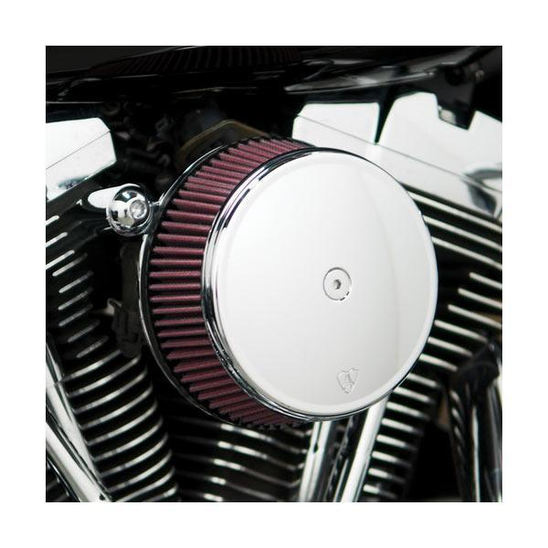 Arlen Ness Stage I Billet Sucker Air Filter Kit with Smooth Chrome Billet Cover for Harley Davidson 1999-2013 Twin Cam - N/A