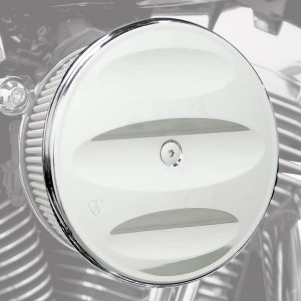 Arlen Ness Big Sucker Stage I Scalloped Billet Air Filter Cover for Harley Davidson - N/A