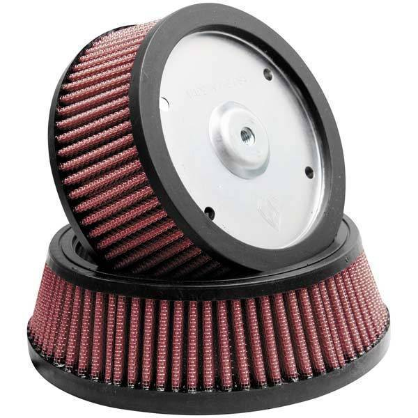 Arlen Ness Team-Ness Big Sucker Stage 2 Replacement Air Filter for Harley Davidson 2008-13 FLH, FLT Models - N/A