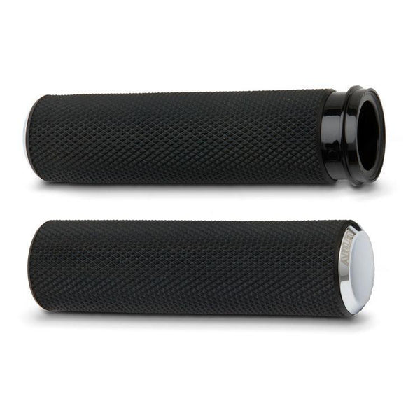 Arlen Ness Fusion Series Knurled Cable Style Grips for Harley Davidson 1984-2013 Models (exc. 2008-13 FLH, FLT) - N/A
