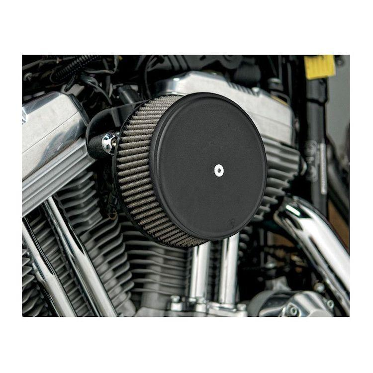 Arlen Ness Stage I Billet Sucker Air Filter Kit with Smooth Steel Cover for Harley Davidson 2008-13 FLT, FLH