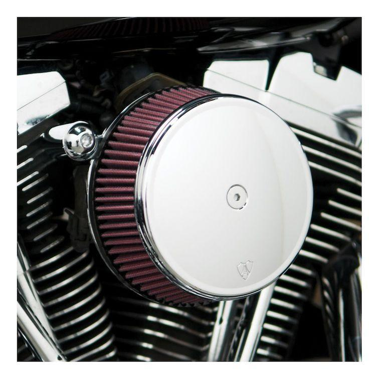 Arlen Ness Stage I Billet Sucker Stainless Steel Air Filter Kit with Smooth Steel Cover for Harley Davidson 1999-2013 Twin Cam