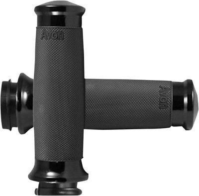 Avon Black Anodized Custom Contour Metric Cruiser Grips - N/A