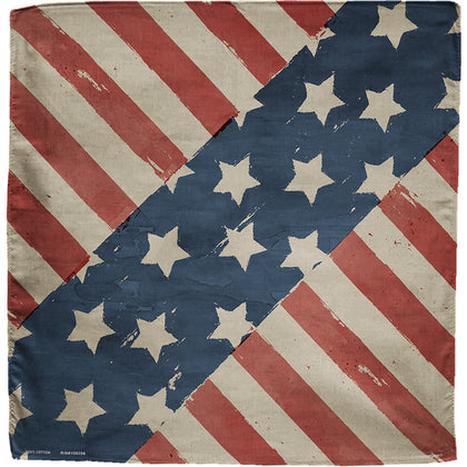 Zanheadgear B147 100 % Cotton Vintage Stars and Stripes Bandanna - Zan Headgear Bandanna