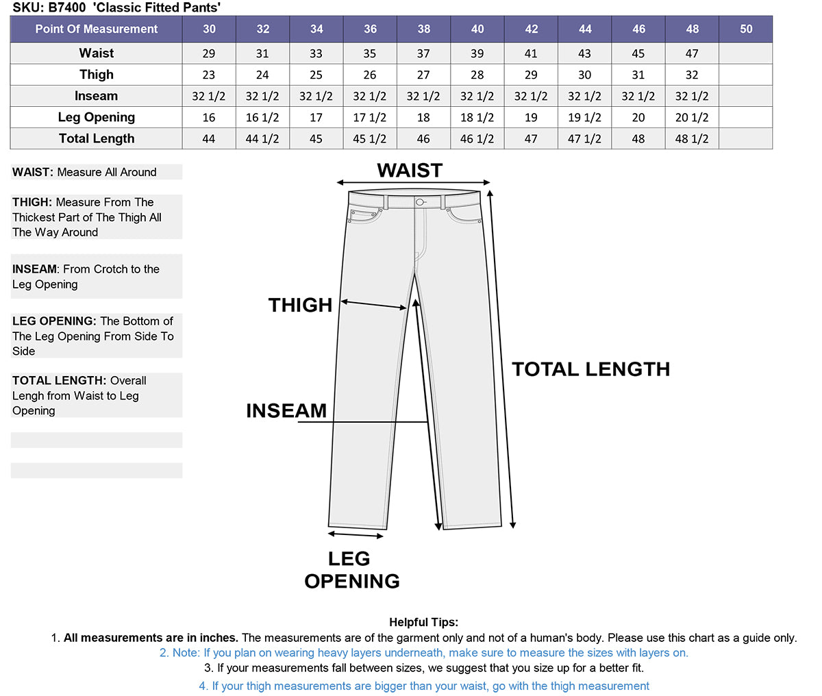 Xelement B7400 Classic Mens Fitted Leather Pants 44