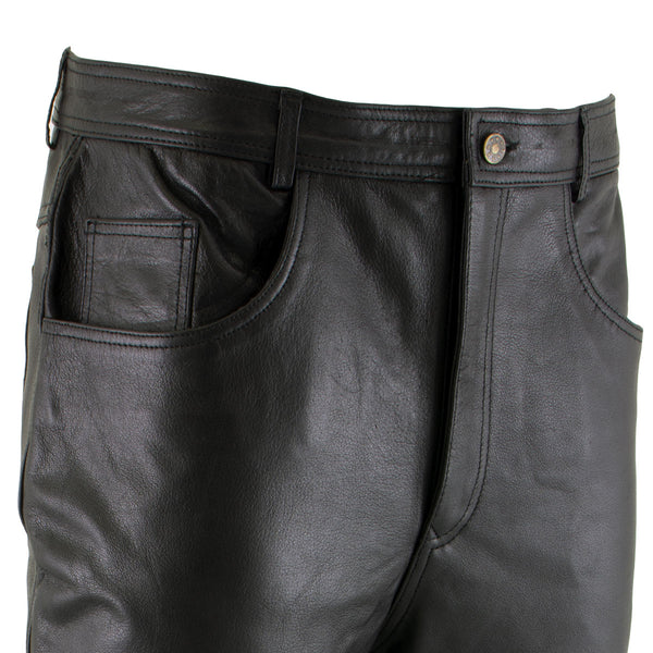 Xelement B7400 'Classic' Men's Fitted Leather Pants - Xelement Mens Leather Pants