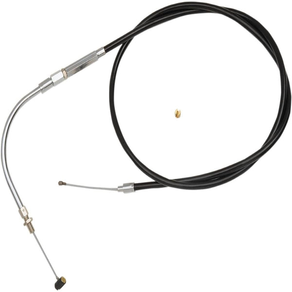 Barnett Vinyl Idle Cable (+4in.) for Harley Davidson 1996-2001 FLHR-I, 2000-01 FLHRC-I - Black