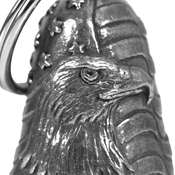 Hot Leathers BEA1118 Bald Eagle Flag Guardian Bell - Hot Leathers Bells