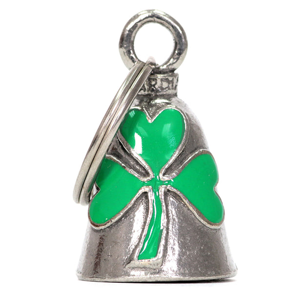 Hot Leathers BEA1125 Green Clover Silver Bell - Hot Leathers Bells