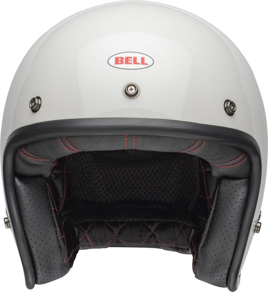 Bell Custom 500 Solid White Open Face Helmet - Bell Open Face Helmets