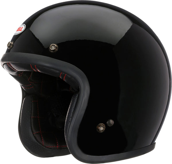 Bell Custom 500 Solid Black Open Face Helmet - Bell Open Face Helmets