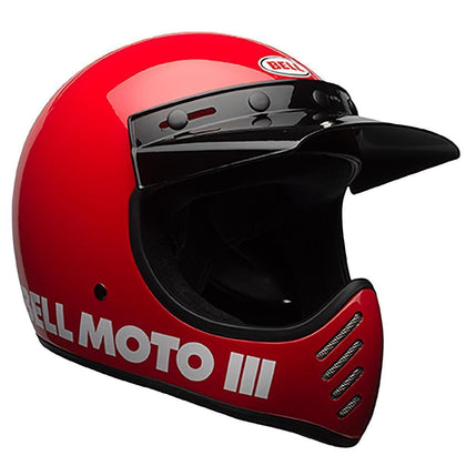 Bell Moto-3 Red Full Face Helmet
