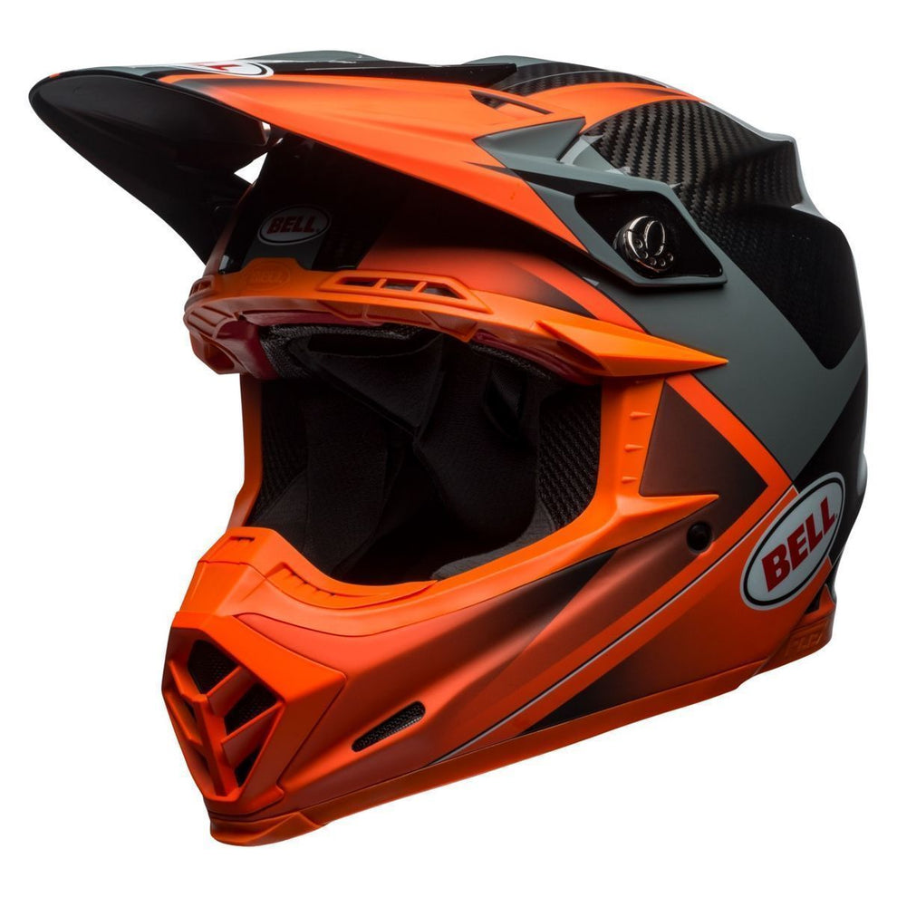 Bell Moto-9 Flex Hound Orange/Charcoal Motocross Helmet