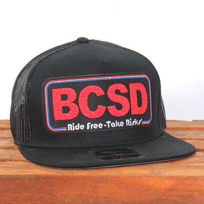 Official Sturgis BFA2019 Buffalo Chip Take Risks Black Snapback Hat - Hot Leathers Hats and Caps
