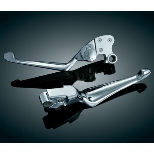 Kuryakyn Boss Blades with Adjustable Clutch Lever for Harley Davidson 1996-2013 - N/A