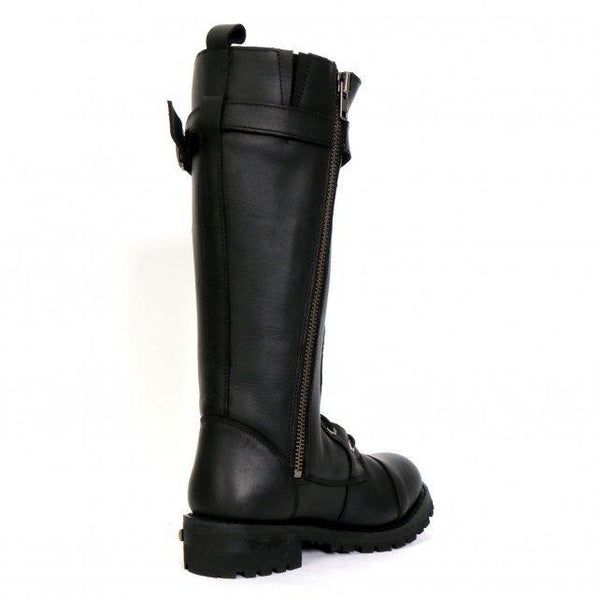 Hot Leathers BTL1005 Ladies 14-inch Black Knee-High Leather Boots with Side Zipper Entry - Hot Leathers Womens Leather Boots