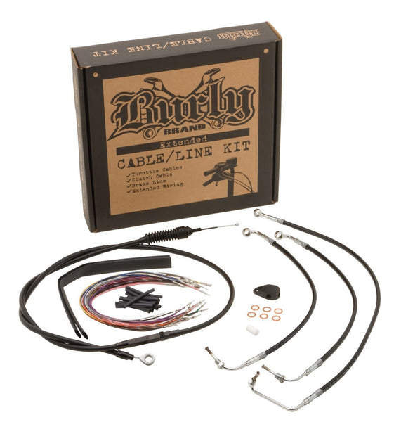Burly Brand Cable/Brake Line Kit for Bagger Bars for Harley Davidson 2008-14 FLHX, FLHT/C/U models with ABS - N/A