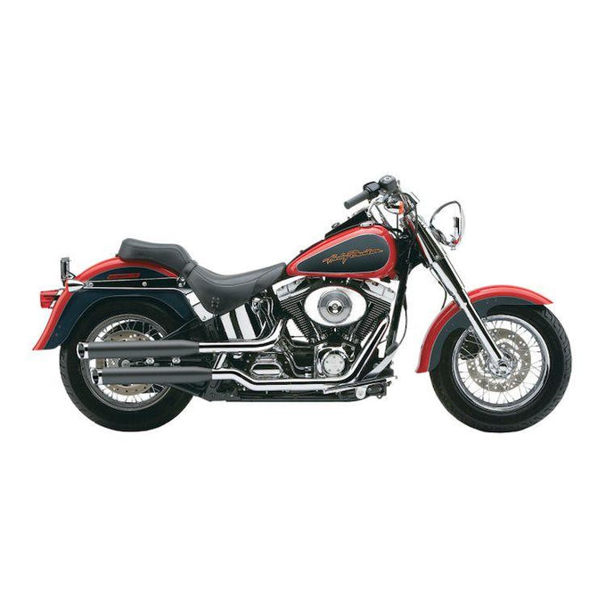 Cobra 3 Inch Slip-On Chrome Mufflers with Tips for 2000-2006 HD  Fatboy/Deuce Models