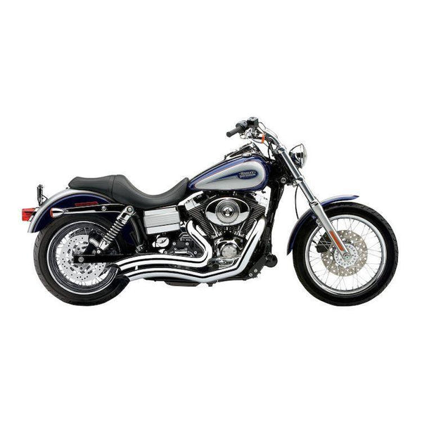 Cobra Short Swept Speedster Complete Exhaust System for Harley Davidson 2012-13 Dyna models - N/A
