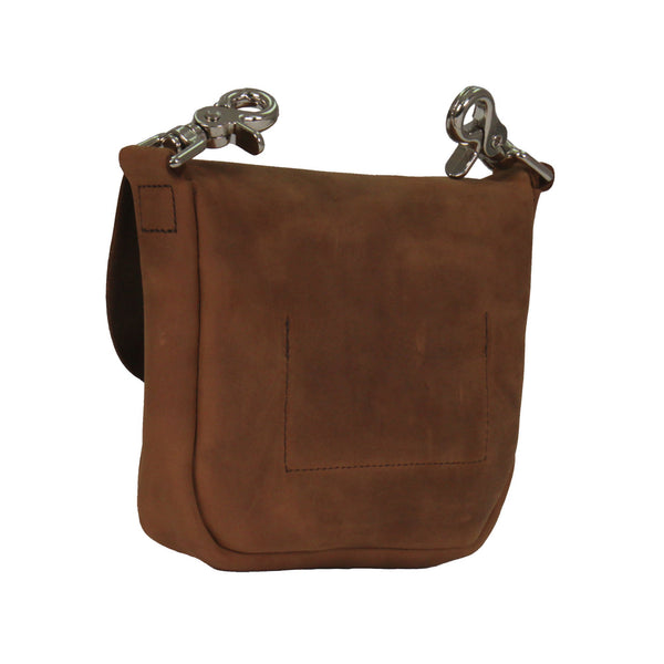 Hot Leathers CPL5002 Distressed Brown Leather Ladies Clip Pouch - Hot Leathers Bags and Luggage