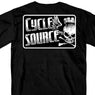 Hot Leathers CSM1015 Official Cycle Source Logo Black T-Shirt