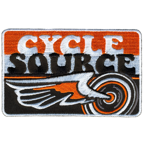 Hot Leathers CYA1002 Official Cycle Source Magazine Stripes Logo Patch - Hot Leathers Patches