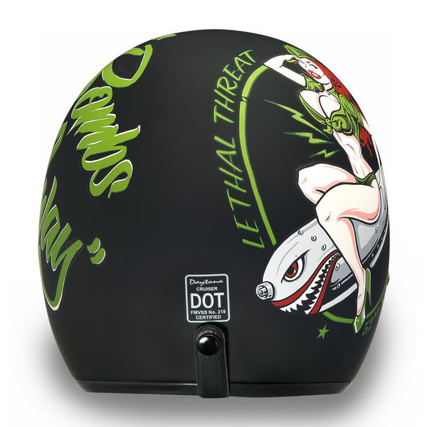 Daytona Helmets DC7-BA 'Cruiser' Bombs Away Dull Black  ¾ Open Face Helmet
