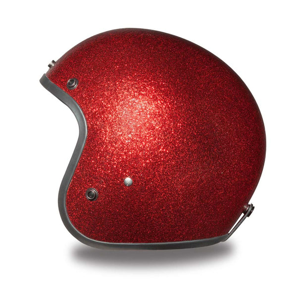 Daytona Helmets DC7-RD 'Cruiser' Red Metal Flake ¾ Open Face Helmet - Daytona 3/4 Open Face Helmets