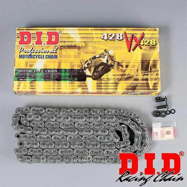 D.I.D Pro-Street X-Ring 428VX 100 Link Natural Steel Chain
