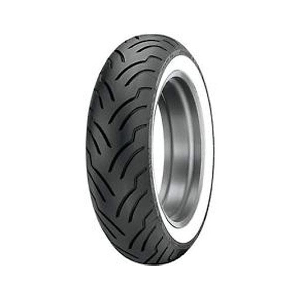 Dunlop American Elite 180/65B16 Rear Wide Whitewall Tire for Harley Davidson