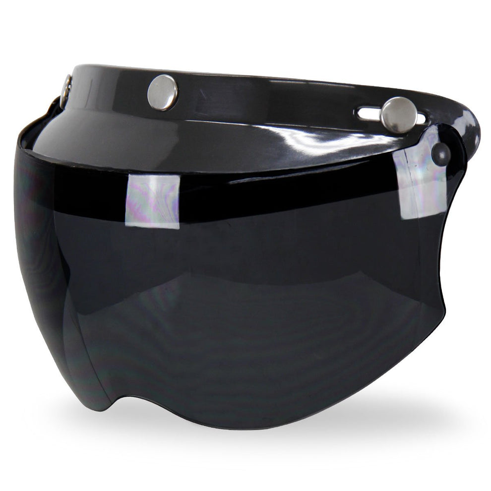 Outlaw Universal 3 Snap-Button Visor with Flip-up Dark Smoke Shield