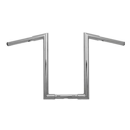 HardDrive 1-1/4 in. Fat-Z Chrome Handlebars 16 in. Height for Harley-Davidson 1