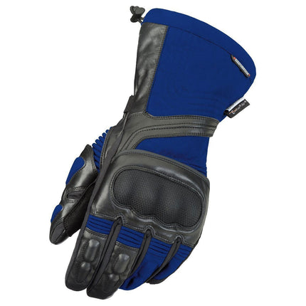 Fieldsheer 'Wind Tour' Men's Black/Blue Leather/Textile Gloves