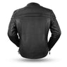 First Manufacturing FIM262NTCZ Men's Black 'The Maverick' Motorcycle Leather Jacket
