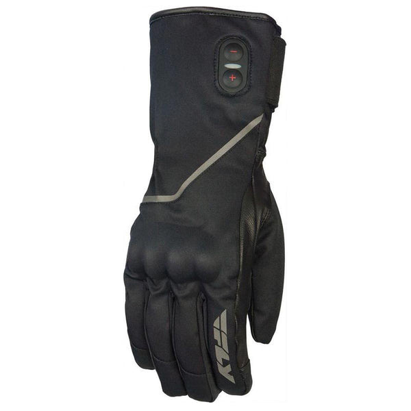 Fly Racing Ignitor Pro Men's Black Battery Heated Snowmobile Gloves - N/A