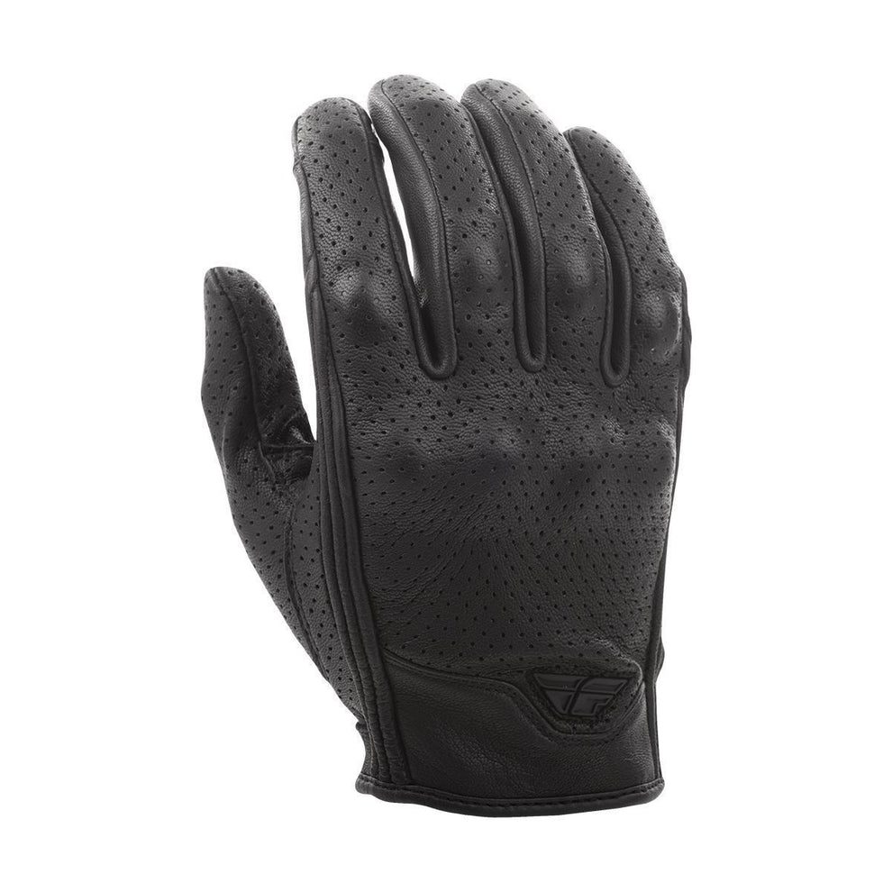 Fly Racing Thrust Men's Perforated Black Leather Gloves