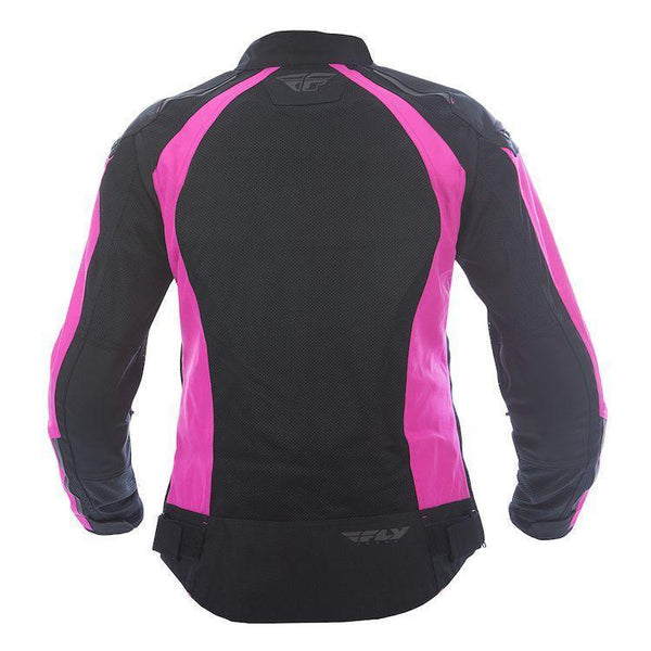 Fly Racing Coolpro Women's Pink and Black Mesh Jacket with Armor - N/A