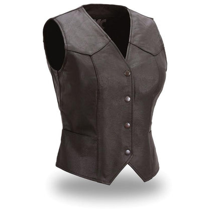 First Manufacturing FML500CR Women's 'The Sweet Sienna' Western Style Motorcycle Leather Vest