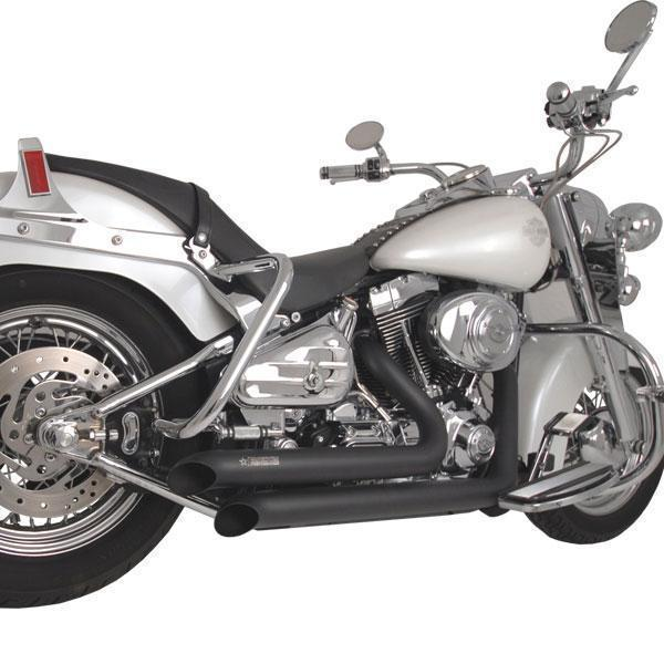 Freedom Performance Declaration Turn Out Black Exhaust for 1986-2011 Harley Davidson Softail