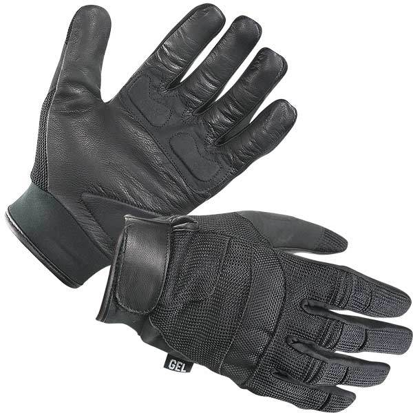Xelement XG879 Men's Black Mesh/Leather Motorcycle Gloves