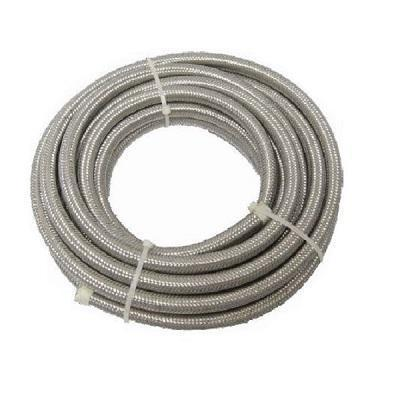 HardDrive Stainless Steel Oil/Fuel Line 3/8in. Braided Hose 6ft. Length for Harley Davidson - N/A