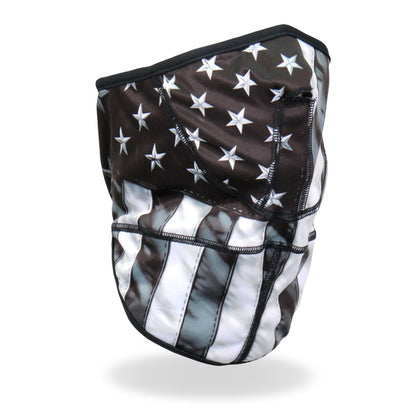Hot Leathers FWC2004 Grey American Flag Face Wrap Neck Warmer