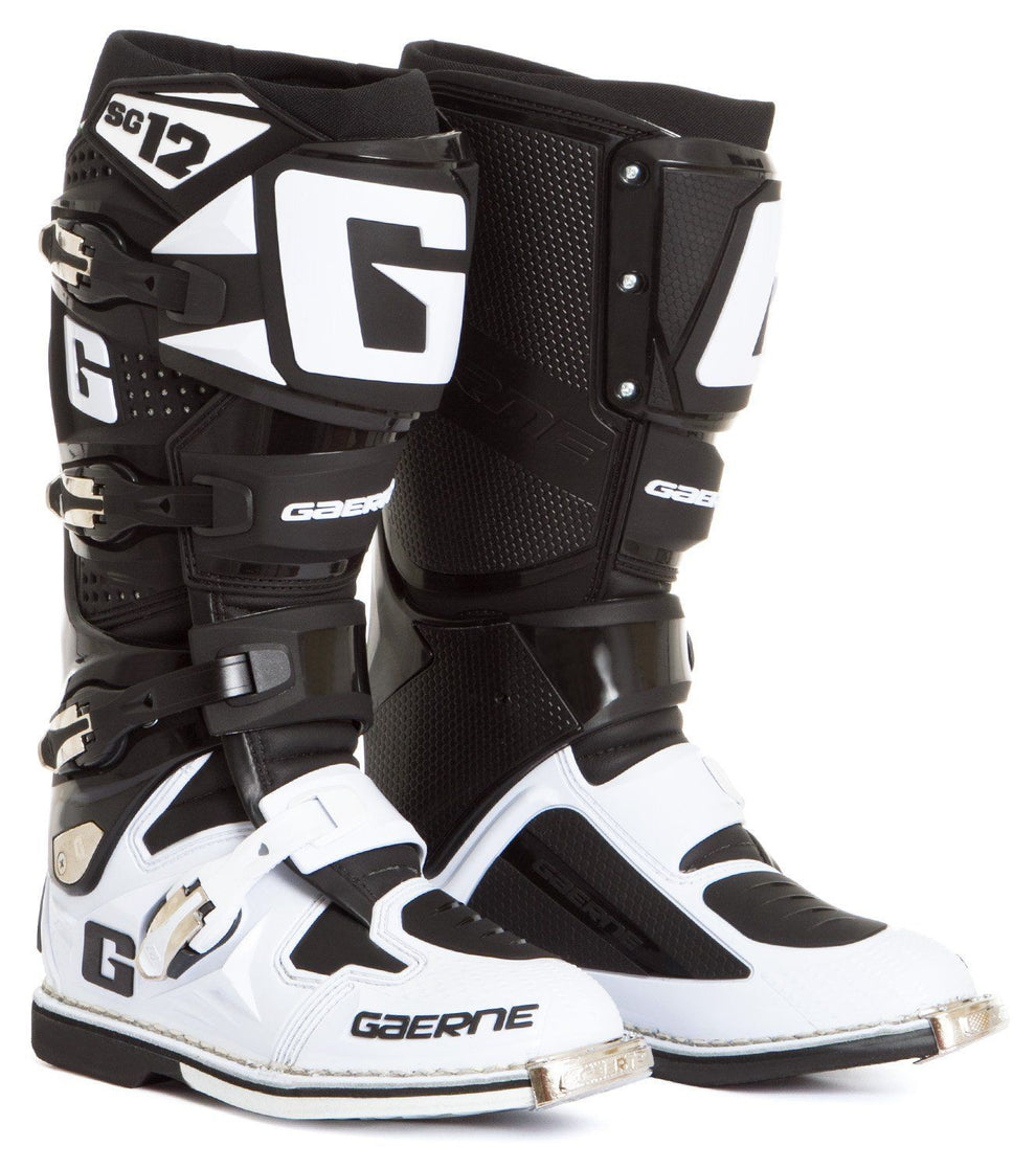 Gaerne SG-12 Men's Black/White Motocross Boots