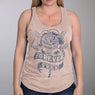 Hot Leathers GLC2523 Ladies Forever Free Rose Slate Tank Top - Hot Leathers Womens Tank Tops