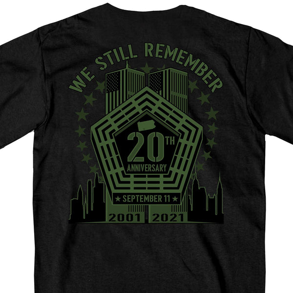 Hot Leathers GMD1495 Men's Black '9-11 We Still Remember' T-Shirt
