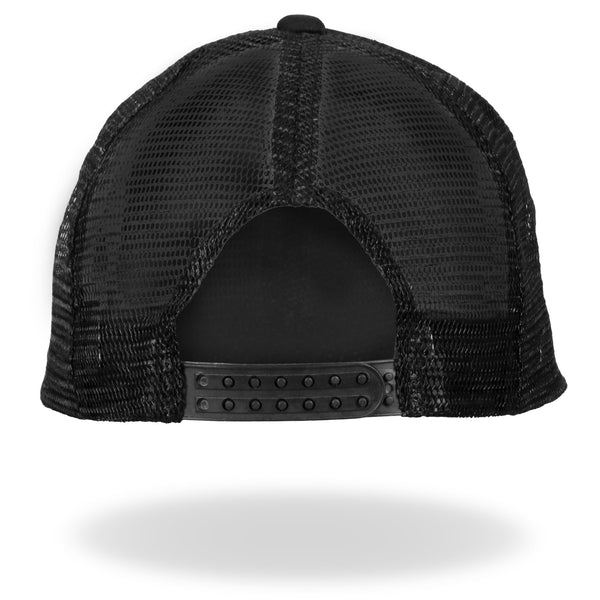 Hot Leathers GSH1004 Middle Finger Black Trucker Hat - Hot Leathers Hats and Caps