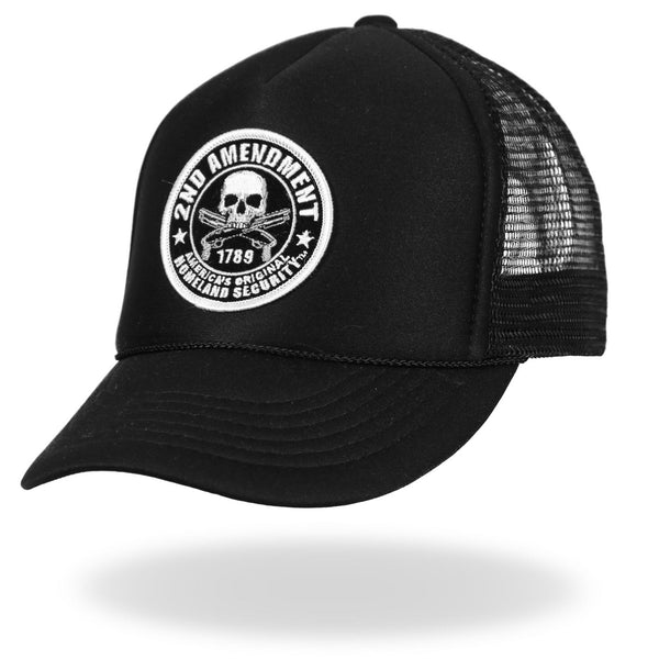 Hot Leathers GSH1005 2nd Amendment America's Original Homeland Security Trucker Hat - Hot Leathers Hats and Caps
