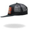 Hot Leathers GSH1020 Black 'Back Off Bone Finger' Snap Back Hat