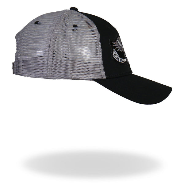 Hot Leathers GSH2006 Eagle Tattoo Trucker Black and Grey Hat - Hot Leathers Hats and Caps