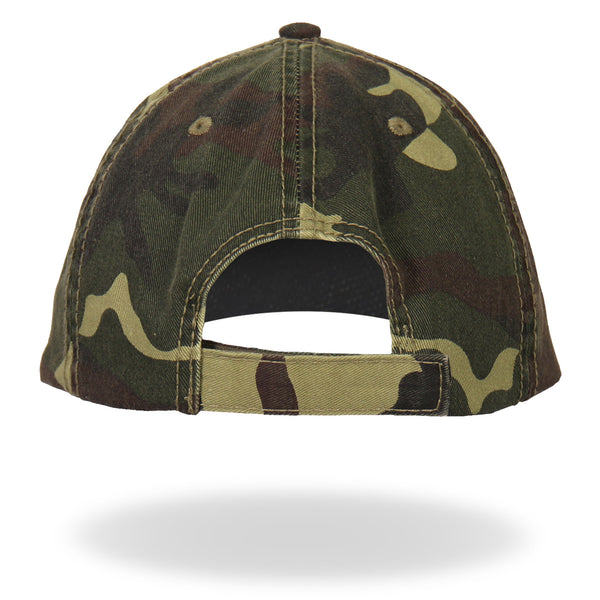 Hot Leathers GSH3001 2nd Amendment Washed Camo Ball Cap - Hot Leathers Hats and Caps